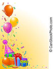 파티, 생일, 배경
