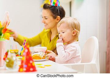 파티, 생일, 아기, 처음