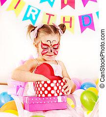 파티, 생일, 아이
