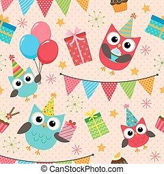 파티, 생일, 패턴