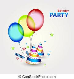 파티, 장식, 생일, 행복하다