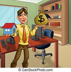 판매/매도 하다, 사무실