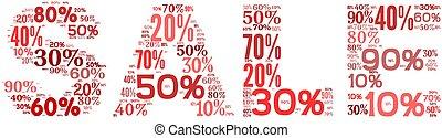 판매, 개념, 에서, 낱말, 꼬리표, 구름