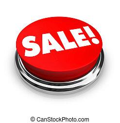 판매, -, 빨간 버튼