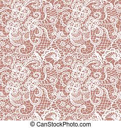 패턴, 꽃, 레이스, seamless