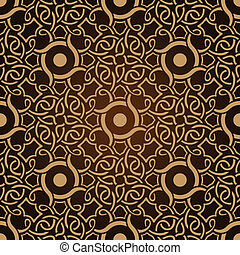 패턴, 벽지, seamless, 갈색의