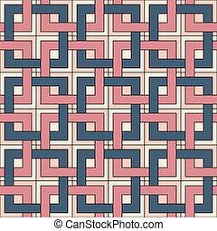 패턴, 사각형, seamless, elements.