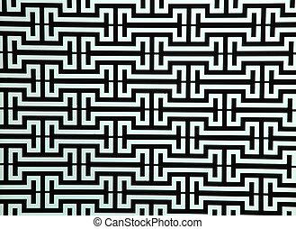 패턴, 의, 강철, 막대, 창, 구조, 통하고 있는, 밝은 파란색