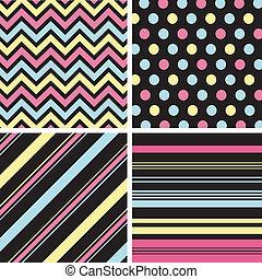 패턴, 직물, seamless, textu