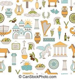 패턴, seamless, 그리스