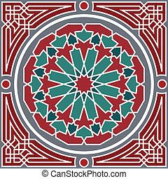 패턴, seamless, 아라비아풍의