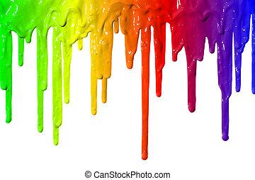 페인트, 물방울