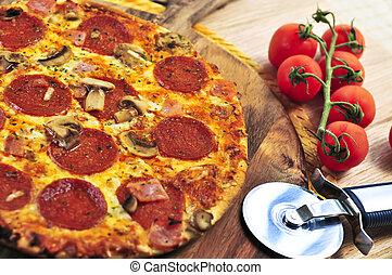 페퍼로니 피자