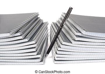 펜, 노트북, 더미