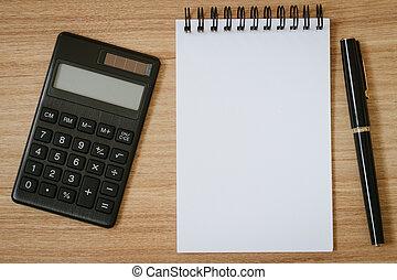 펜, 메모장, 계산기