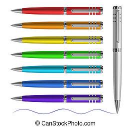 펜, 착색되는