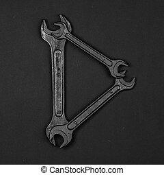 편지, d., 알파벳, 만든, 의, 수선, 도구