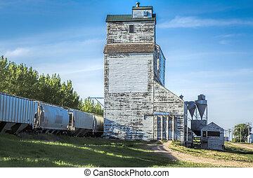 포도 수확, 곡물 엘리베이터