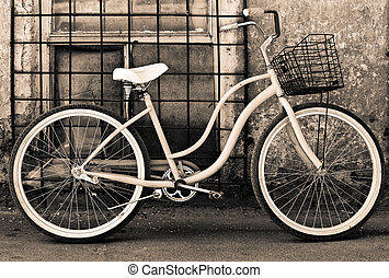 포도 수확, 바구니와 더불어 자전거