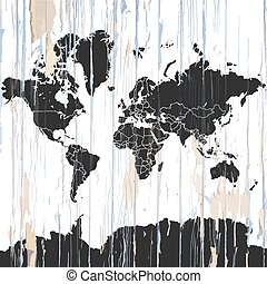 포도 수확, 세계 지도, 통하고 있는, 멍청한, 배경