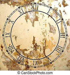 포도 수확, 시계 얼굴