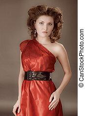 포도 수확, 여자, 의복, 빨강