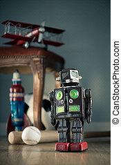 포도 수확, 장난감 로봇