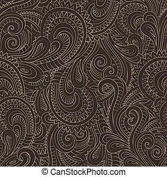 포도 수확, 장식적이다, 꽃의, 꾸밈이다, seamless, 패턴