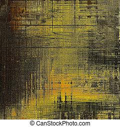 포도 수확, 찢는, 직물, 또는, 유행, grunge, 배경, 와, 구식의, 디자인 성분, 와..., 다른, 색, patterns:, 황색, (beige);, brown;, gray;, 검정