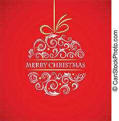 포도 수확, 크리스마스 공, 와, retro, 장식