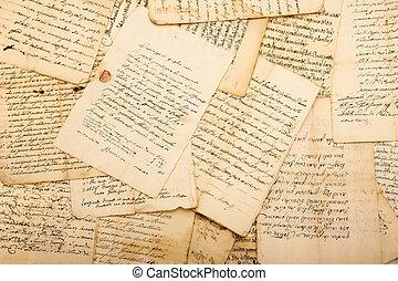포도 수확, 편지