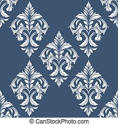 포도 수확, victorian, seamless, pattern., 양철통, 이다, 사용된다, 치고는, 기치, 초대, 결혼식, 카드, scrapbooking, 와..., others., 왕다운, 벡터, 디자인, element.