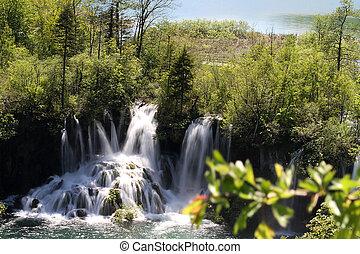 폭포, 에, plitvice, 호수