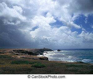 폭풍우, 얼마 만큼, 그만큼, 해변