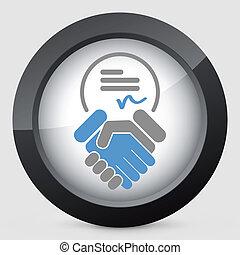 표시, 통하고 있는, 동의, 협정, 계약, 문서