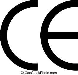 표하기, 상징, ce, 벡터, 비슷함, european