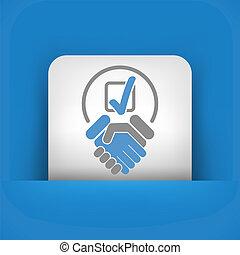 표, 동의, 협정, 계약, 선택