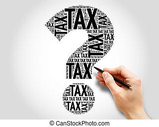 표, 세금, 낱말, 질문, 구름