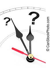 표, 질문, 시계