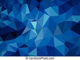 푸른 빛, polygonal, 모자이크, 배경, 벡터, 삽화, 사업, 디자인 템플렛