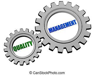 품질 관리, 에서, 은, 회색, 은 설치한다