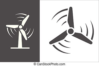 풍력 터빈, 벡터, 아이콘