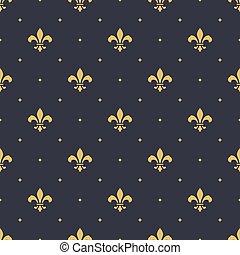 프랑스 왕실, seamless, 패턴, 배경