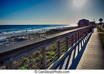 플로리다, 바닷가, 장소, destin