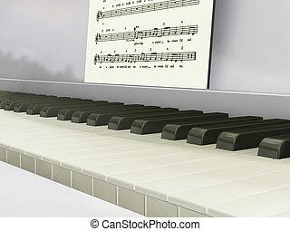 피아노, 와, 음악