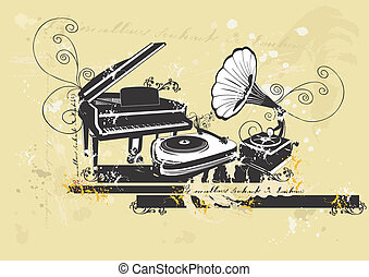 피아노, 와..., 턴테이블