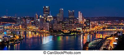 피츠버그, 지평선, panorama.