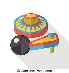 핀볼, 아이콘, 게임, 바람 빠진 타이어