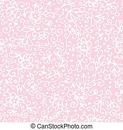 핑크, 떼어내다, 꽃의, 직물, seamless, 패턴, 배경