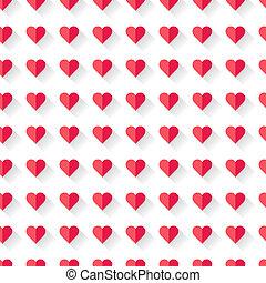 핑크, 떼어내다, 연인의 것, 심장, pattern.